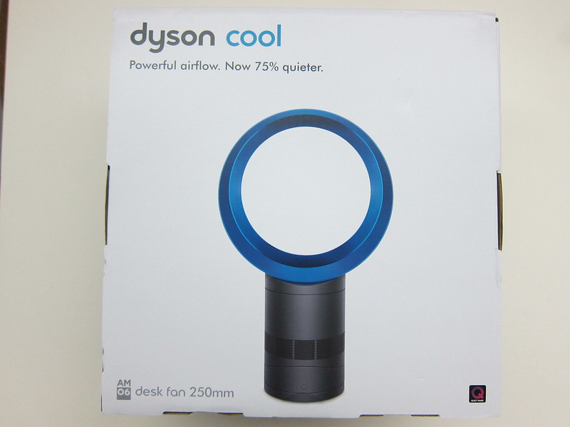 Dyson AM06 Desk Fan 25cm (Iron & Blue) - Box Front