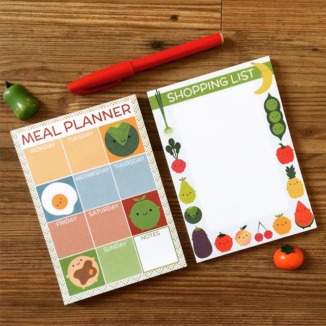 Magnetic meal planner pads are back in stock. Save £2 if you buy a shopping list pad too!