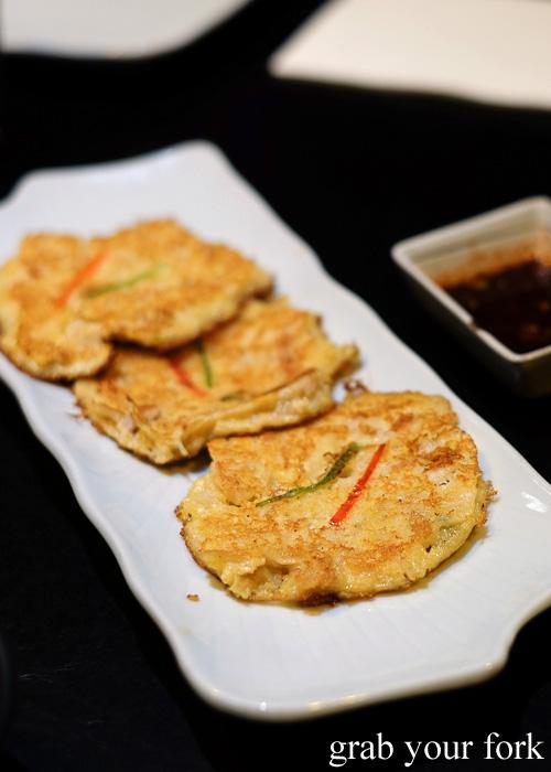 Kimchi pancakes at Danjee Sydney