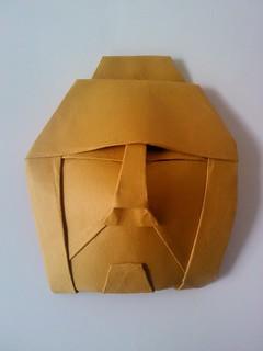 masque africain origami