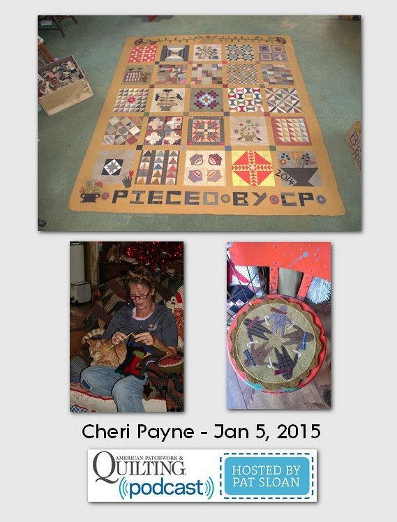 American Patchwork and Quilting Pocast guests Cheri Payne Jan 2015