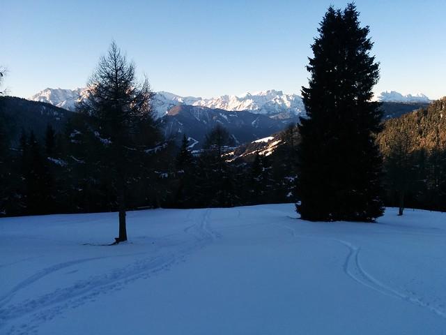 Ausblick Aufstieg Bonnerhütte und Toblacher Pfannhorn