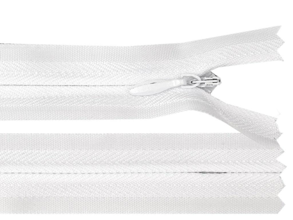 Reißverschluss 20cm, Weiß
