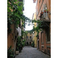 A idyllic street in the Trastevere...