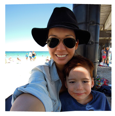Karen and Liam at Coogee Beach, WA