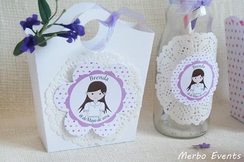 Imprimible decoración comunión niña