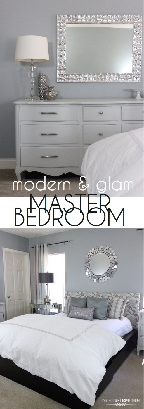 Modern and Glam Master Bedroom Reveal