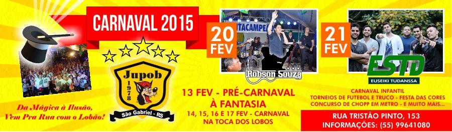 Carnaval 2015 é na Jupob