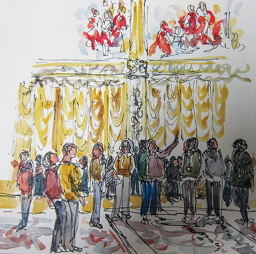 Tourists at the Sistine Chapel, Vatican City