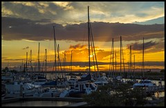 Sunset over Deception Bay-1=