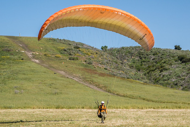 Shelley paragliding