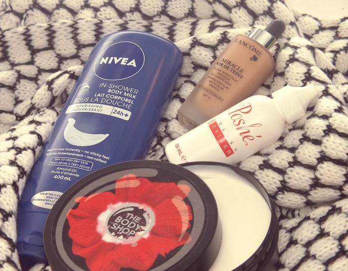 nivea in shower moisturizer lancome miracle air de teint poshe nail polish reviver body shop smoky poppy