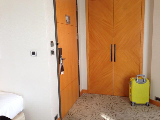進門處沒有特別區隔的玄關@台中裕元花園酒店