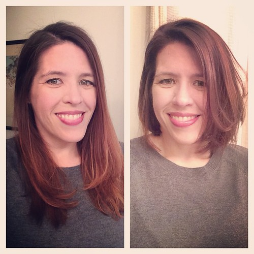 So. I kinda went and chopped many, many inches off my hair today.