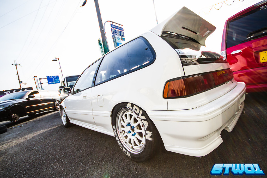 corner back of white car