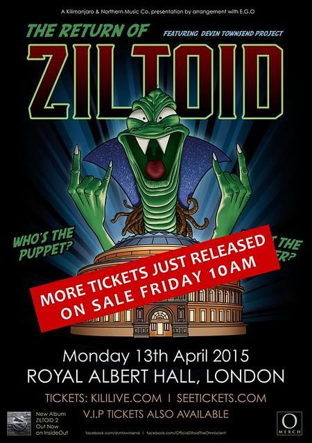 04/13/15 Devin Townsend Project @ Royal Albert Hall, London, England