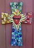 Sacred Heart Mosaic Art Cross Custom Order