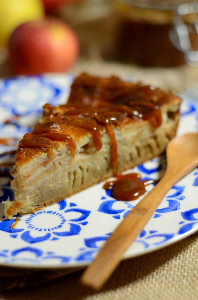 Gâteau normand aux pommes et caramel