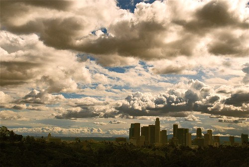 Winter skies over L.A.