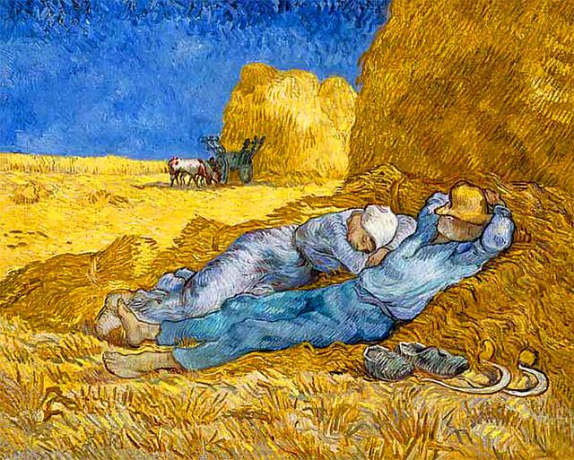 Los campesinos durmiendo la siesta (Van Gogh, 1890)