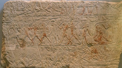 Tomb scene with children playing games