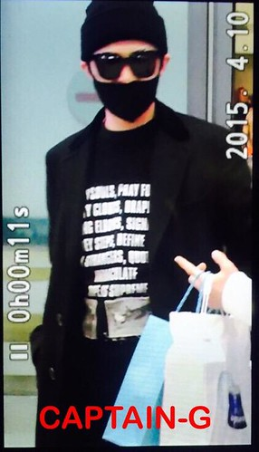 Big Bang - Incheon Airport - 10apr2015 - G-Dragon - Captain G - 02