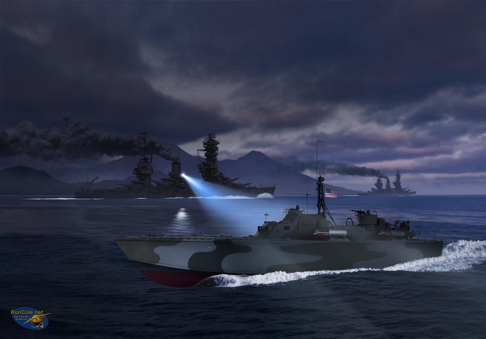 рисунок The Battle of Surigao Strait
