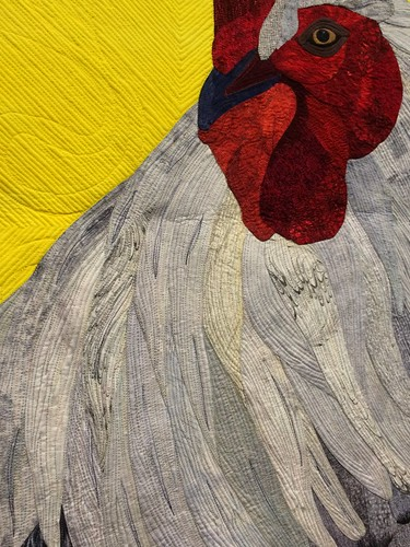 "close up of ""Cock-a-Doodle-Dandy"" by Gigi Kandler of Arroyo Grande, CA"
