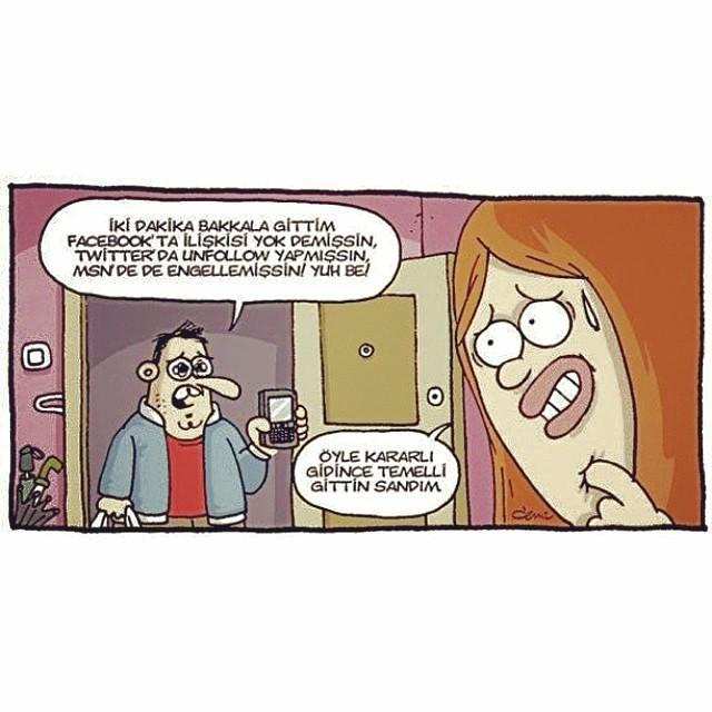 Bakkal Gittim Iki Dakika Komik Karikatür Resim şii Flickr