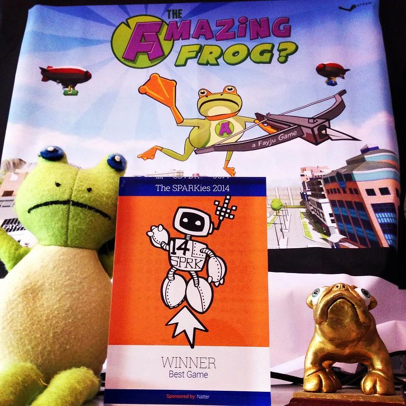Amazing Frog: We Won A Sparkie For Amazing Frog?