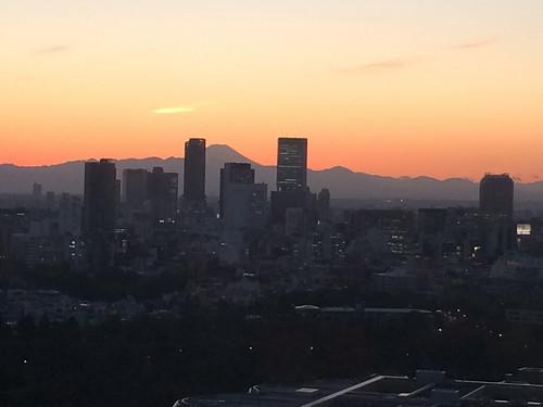 富士山と夕焼け 2014/11/14