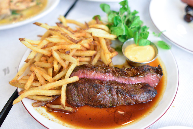Steak Frites Jus aux Herbes, Watercress, Sauce Choron