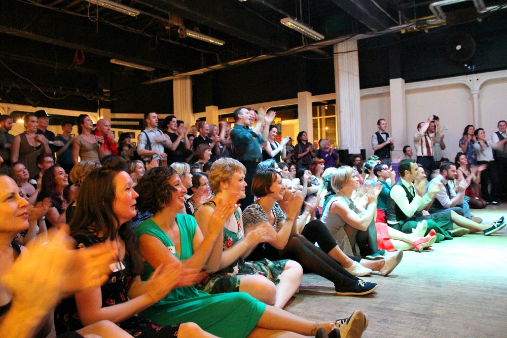 Keds Swing Dance Ball Bristol audience cheering