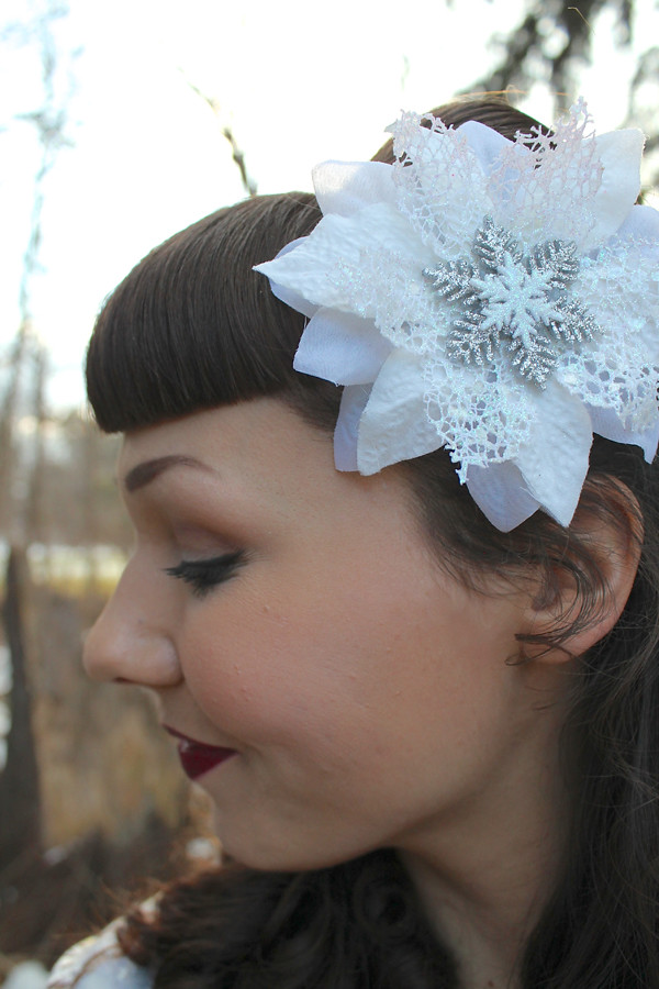rockabilly hair flower