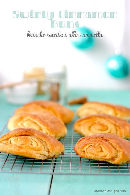 Swirly Cinnamon Buns o brioche svedesi alla cannella