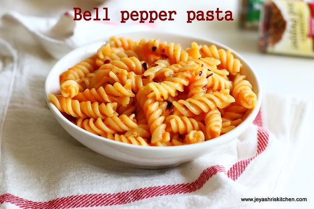 Bell pepper -pasta