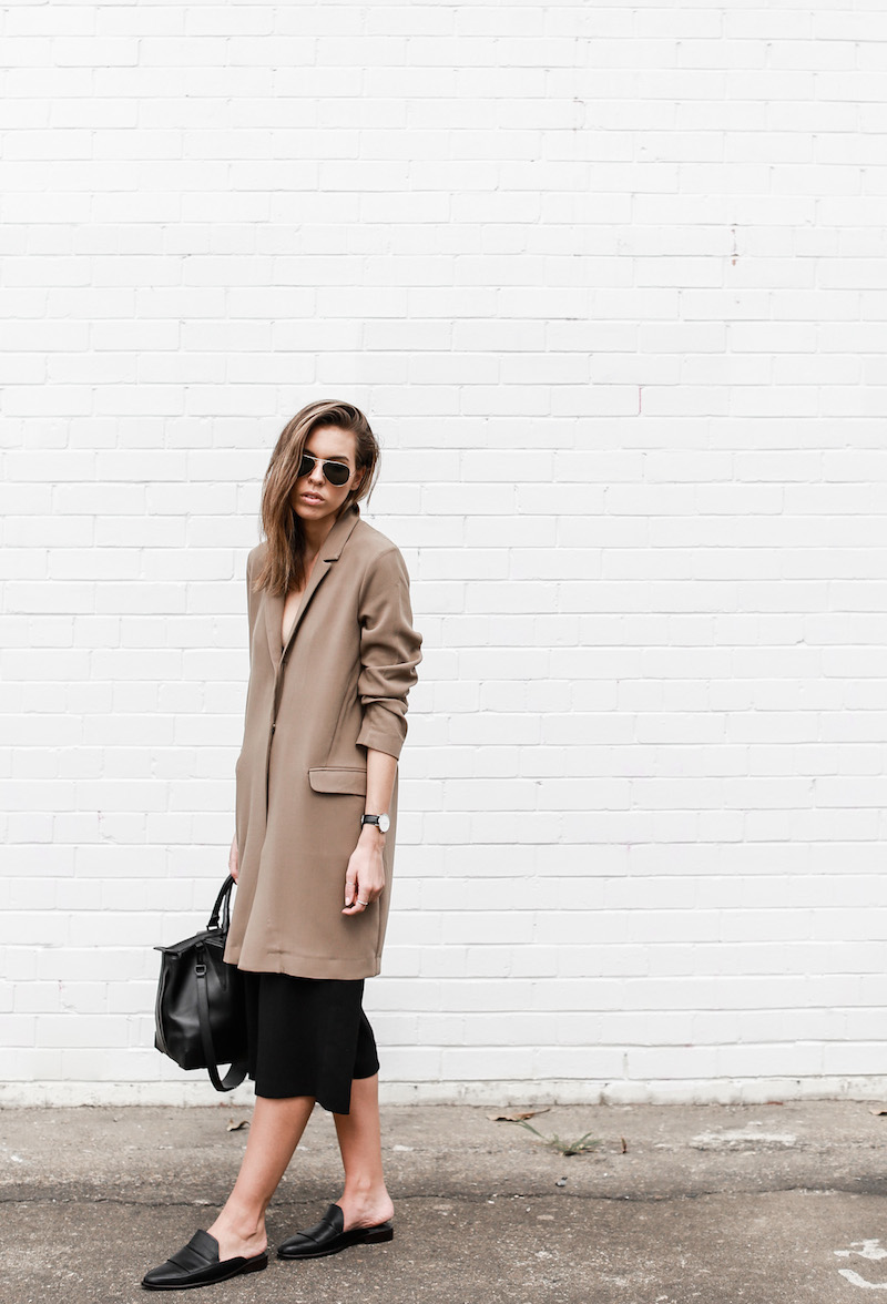 MODERN LEGACY fashion blog street style camel coat blazer culottes loafer mules (11 of 14)