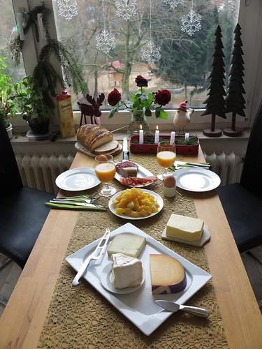 Spätes Samstagsfrühstück