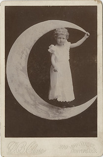 A Little Girl on a Paper Moon Cabinet Card