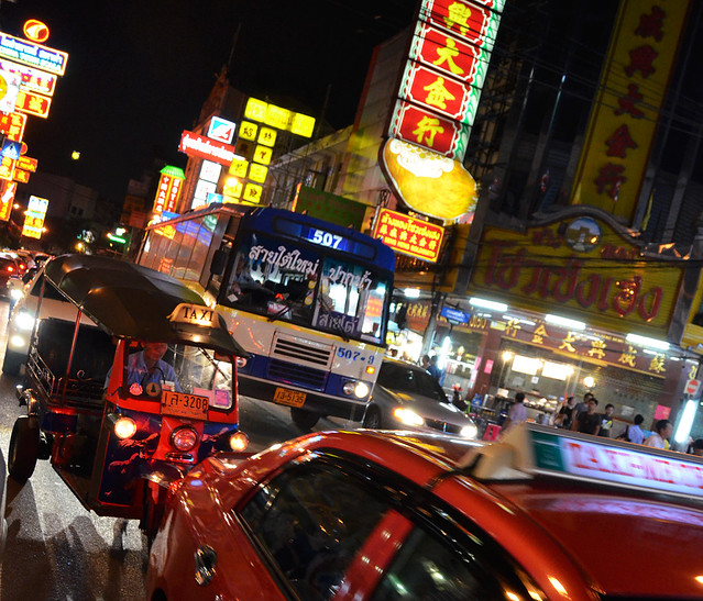 Ritmo de las calles de Chinatown de Bangkok
