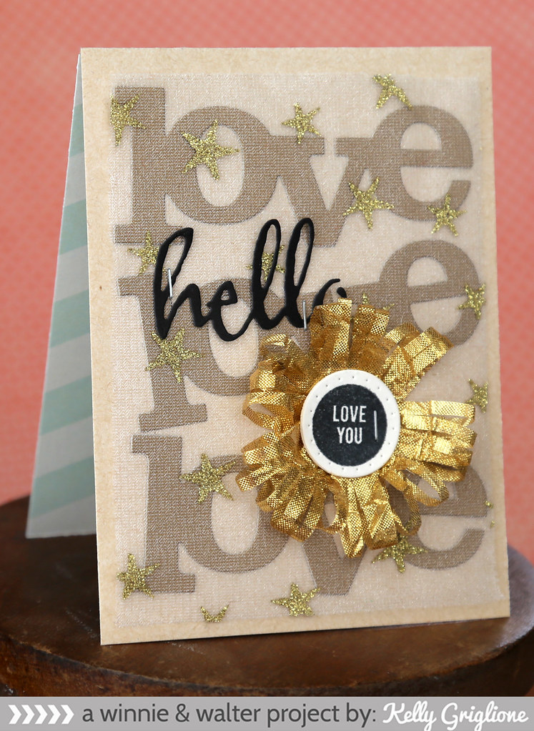 kelly_Love you card with Lulu Fringe Die Flower