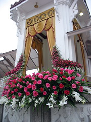 roses at the crematorium