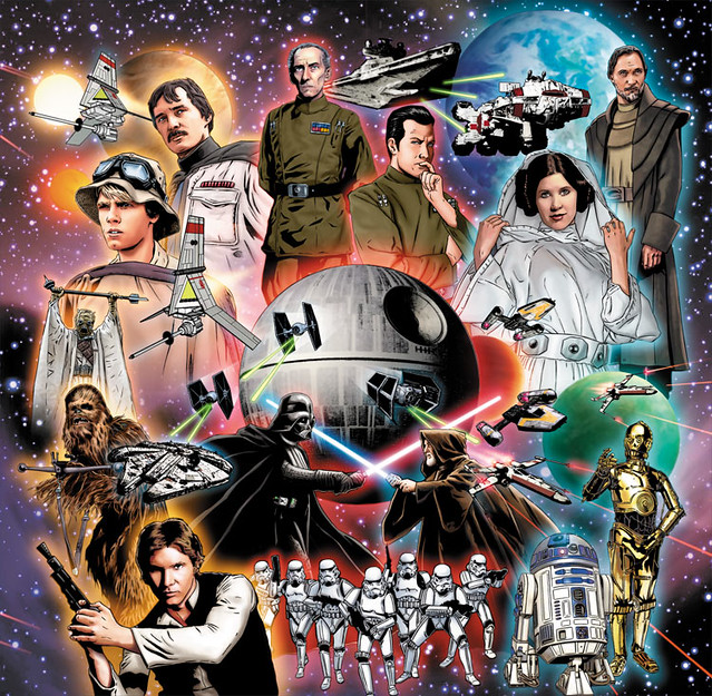 Topps Star Wars Illustrated A New Hope Foil Puzzle Art
