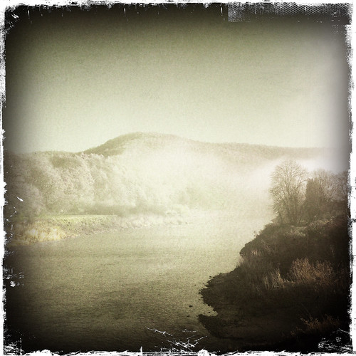 Misty morning on the River Wye at Tintern