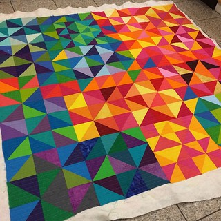 Put off quilting this for forever, but it only took 2 hours to quilt and I love how it turned out. Now to bind, sew a hang sleeve, and ship to QuiltCon.
