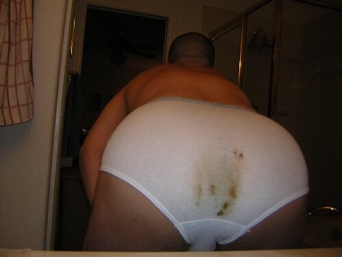 stained panties Shit