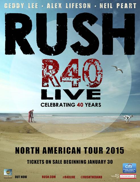 Rush R40 North American Tour 2015