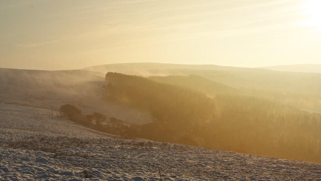 Mist rising to Ingleby Moor