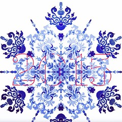 Thank you 2014,  Welcome 2015.   #illustration #geotica #snowflakes #winter #2015 #2014