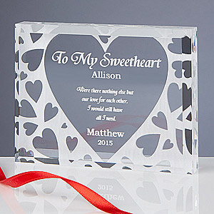 Personalized Keepsake for Valentines Day